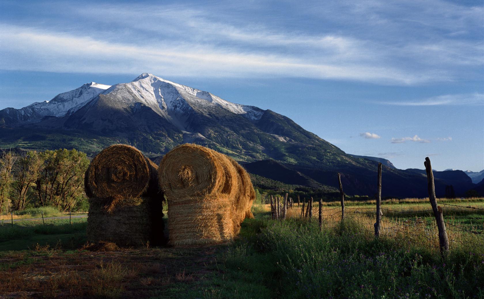 Mt Sopris Haybales