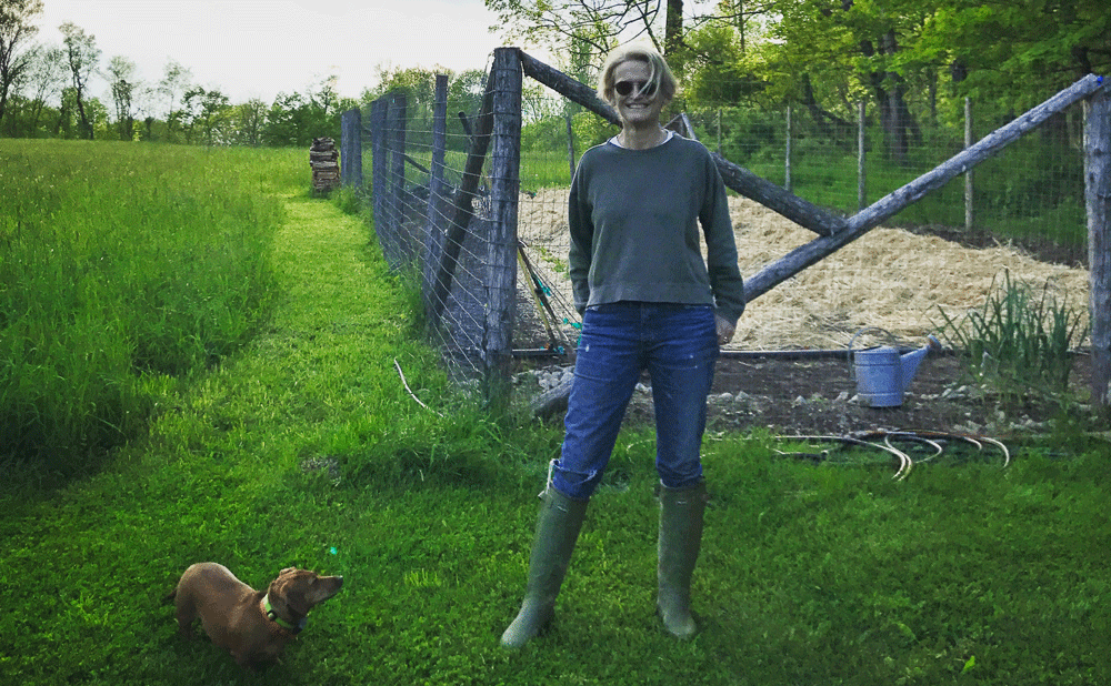 Ruthie Peretti on organic farm