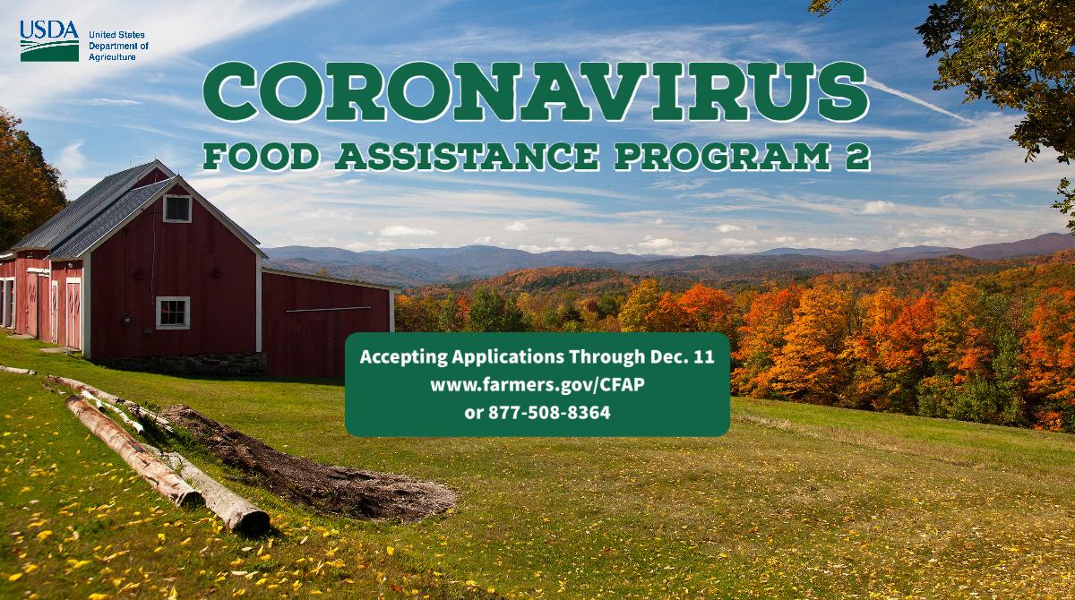 Application for Coronavirus Food Assistance Program is Open!
