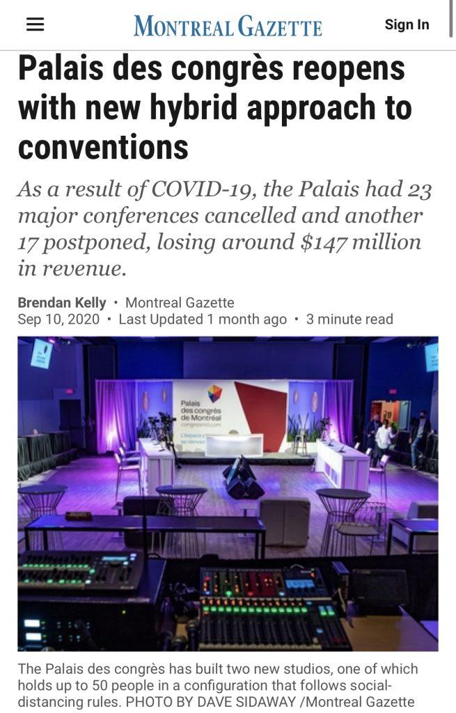 Retombée du Palais des congrès dans les médias
