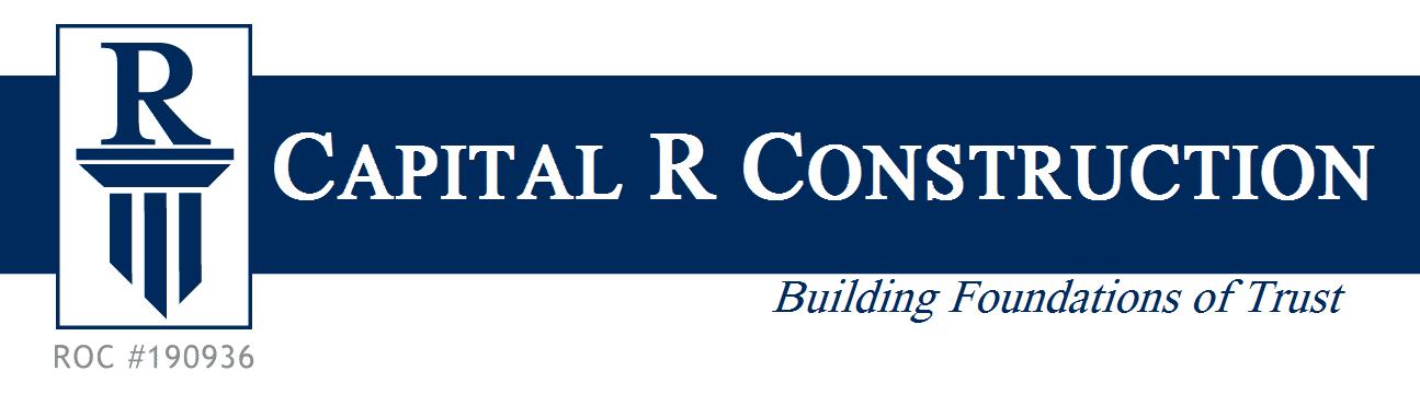 Capital R Construction Logo