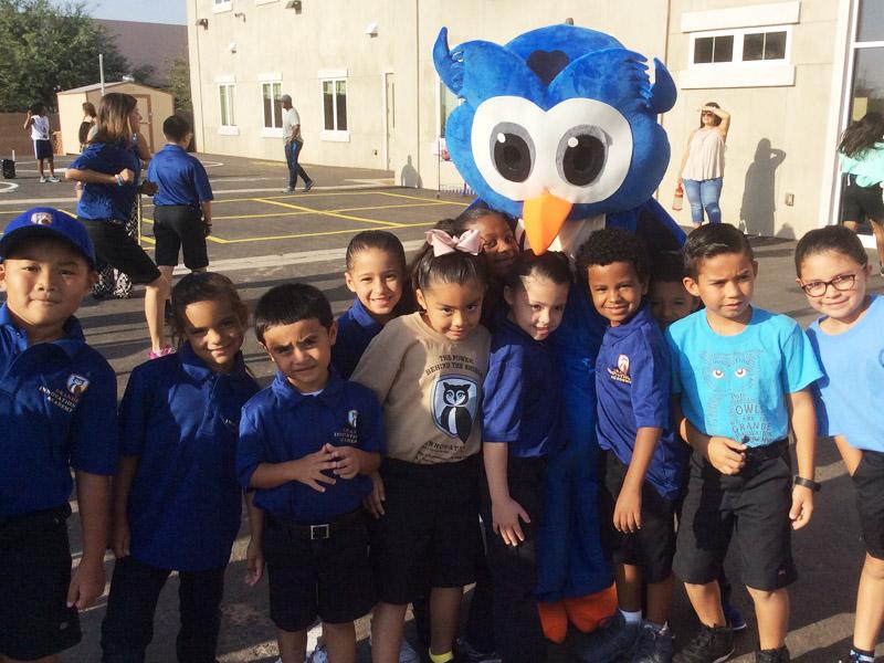 Kids with Owlbert