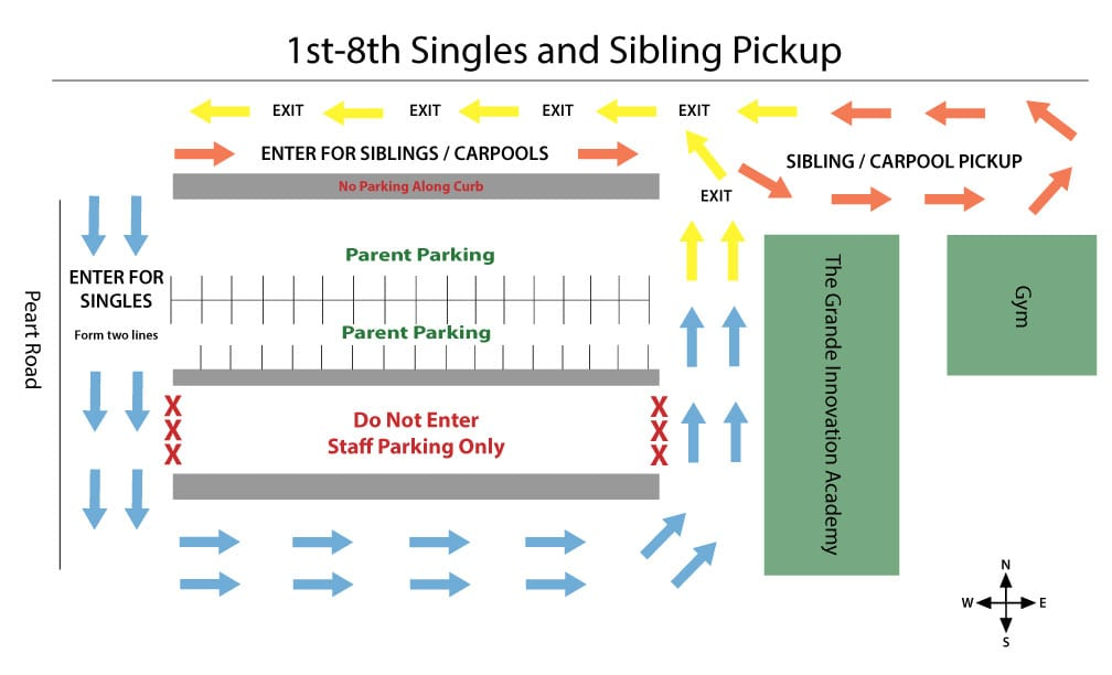Sibling and Single Pick up Map