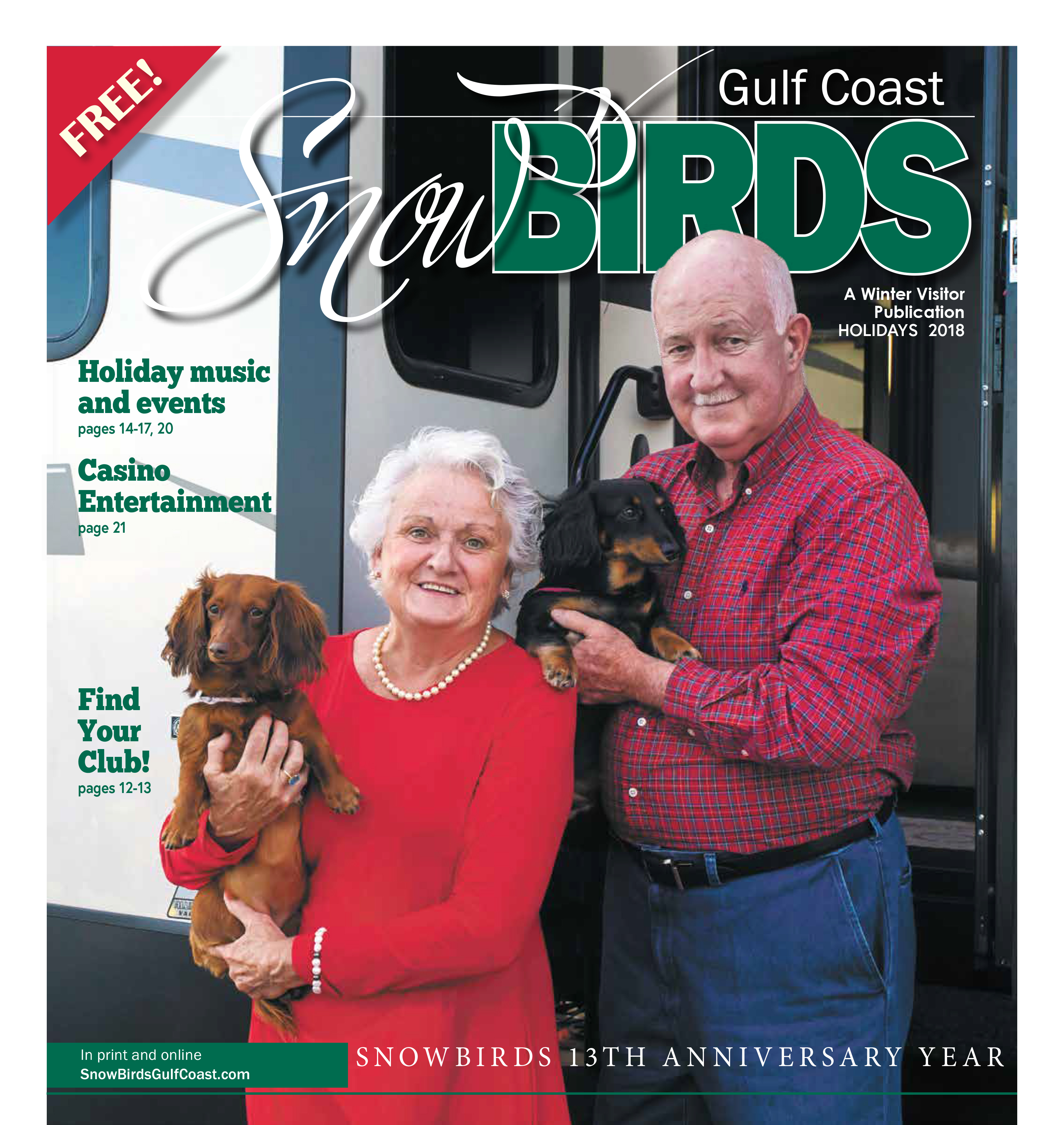 Where to find your copy of Snowbirds Gulf Coast