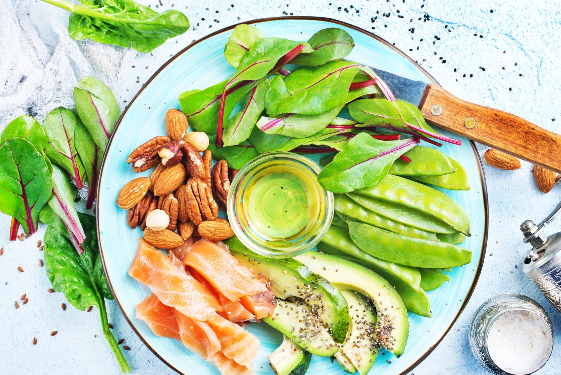 Plate of healthy food