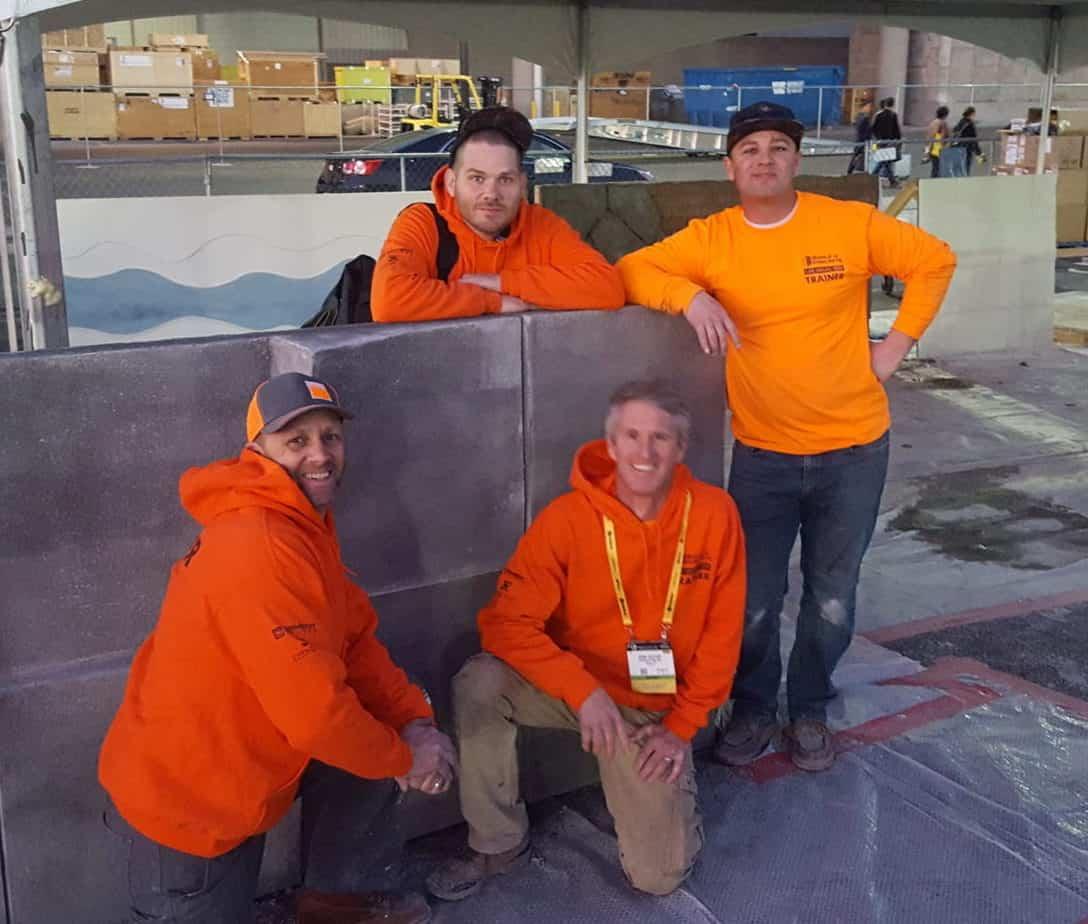 decorative concrete training at the World of Concrete