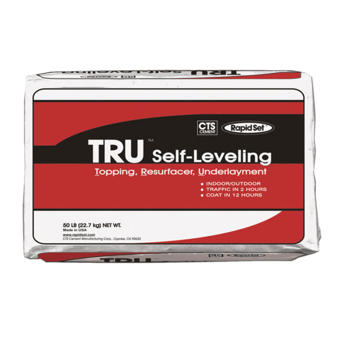 CTS RapidSet TRU Self-Leveling Topping, Resurfacer, Underlayment