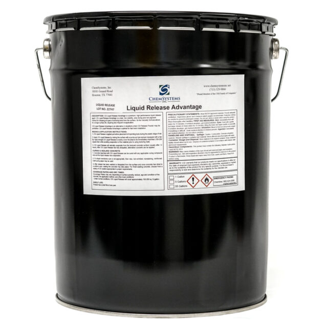 CSI Liquid Release Advantage for Concrete