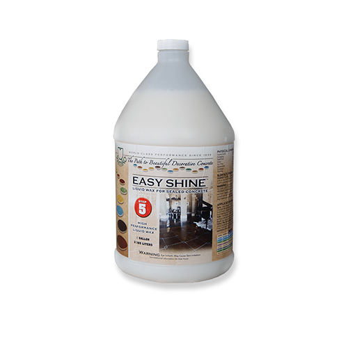 Easy Shine Liquid Wax for Sealed Concrete
