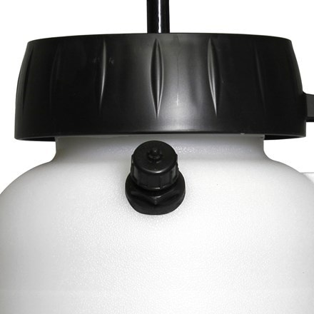 The Chapin Acetone Sprayer line is specifically designed and equipped for the Decorative Concrete Contractor for use in staining with acetone-based dyes and other acetone only applications. The 2-gallon translucent poly tank has a funnel-mouth opening with splash guard and in-tank anti-clog filter.