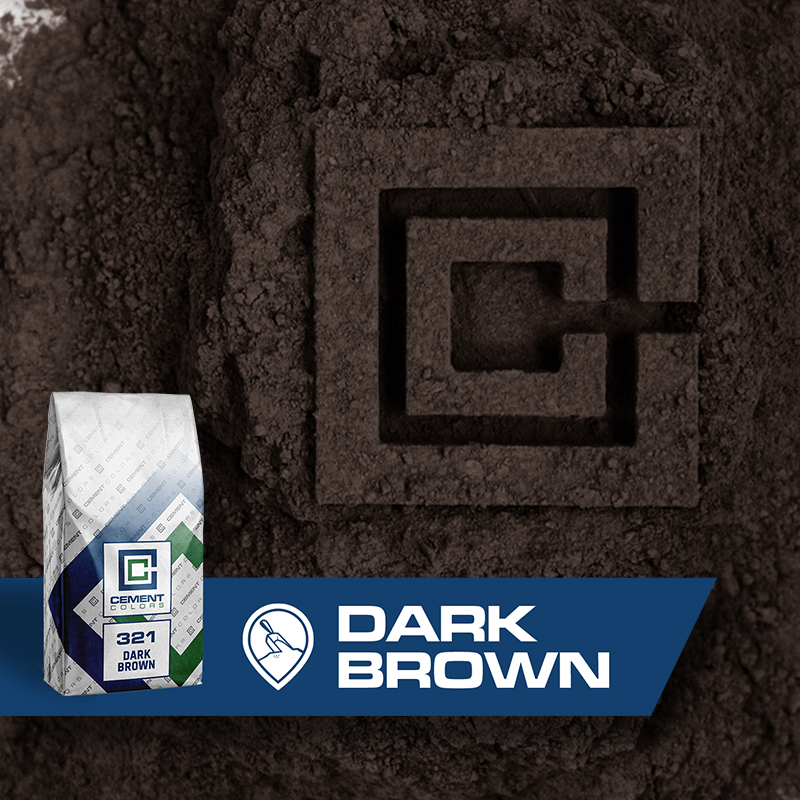 Dark Brown - Raw Pigment for Concrete by Cement Colors