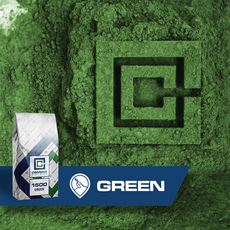 Green - Raw Pigment for Concrete by Cement Colors