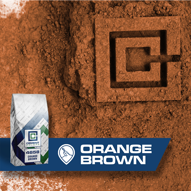 Orange Brown - Raw Pigment for Concrete by Cement Colors