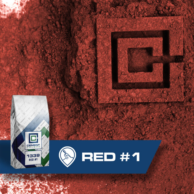 Red #1 - Raw Pigment for Concrete by Cement Colors