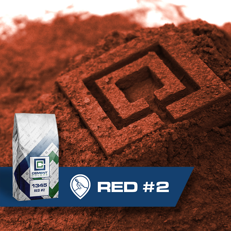 Red #2 - Raw Pigment for Concrete by Cement Colors