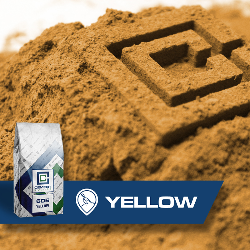 Yellow - Raw Pigment for Concrete by Cement Colors