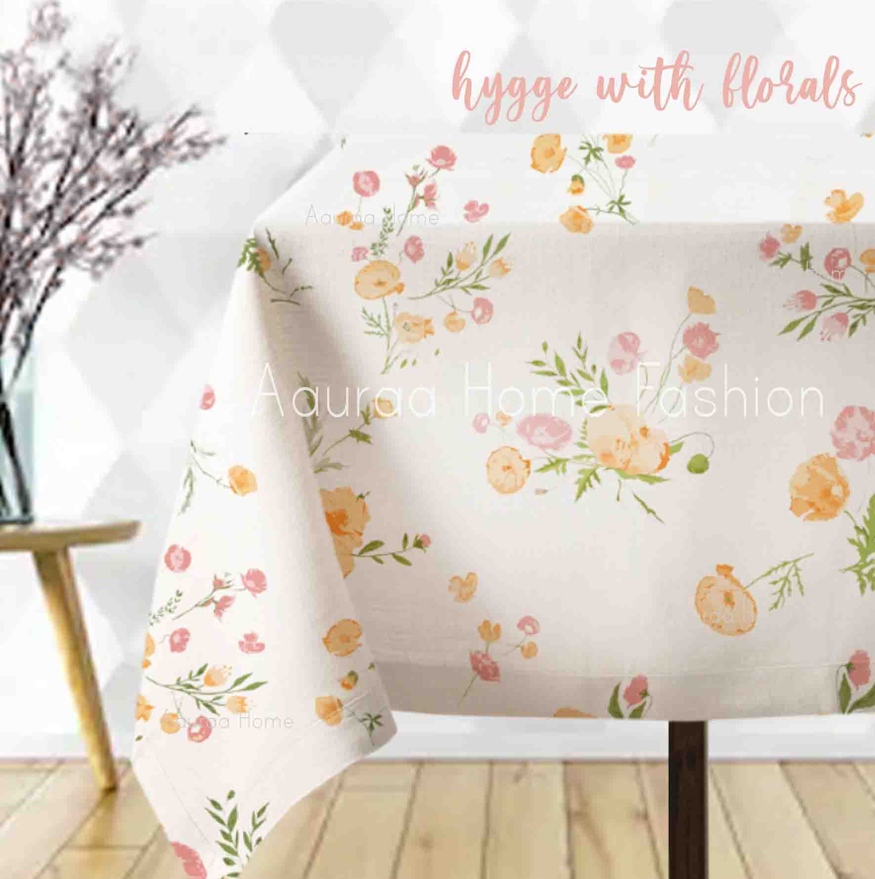 Hygge Floral Table Cloth