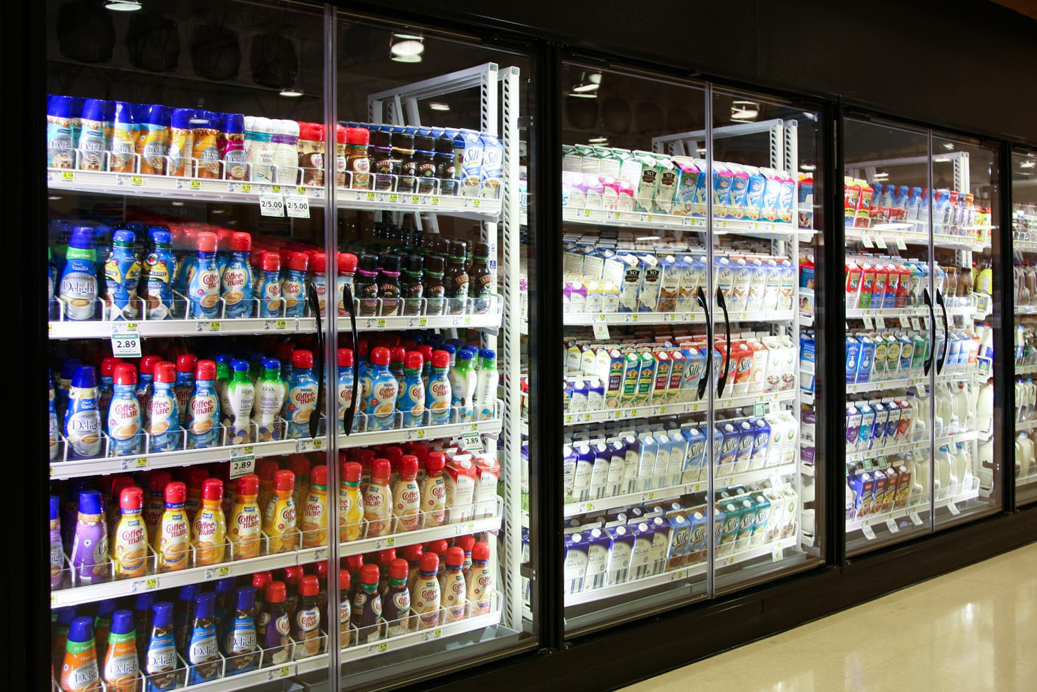 milk dairy shelving
