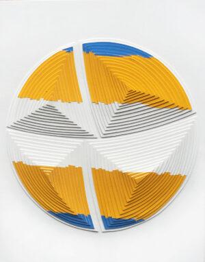 Blue & Yellow Stripe-Out