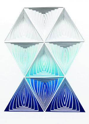 Blue Blend Triangle In