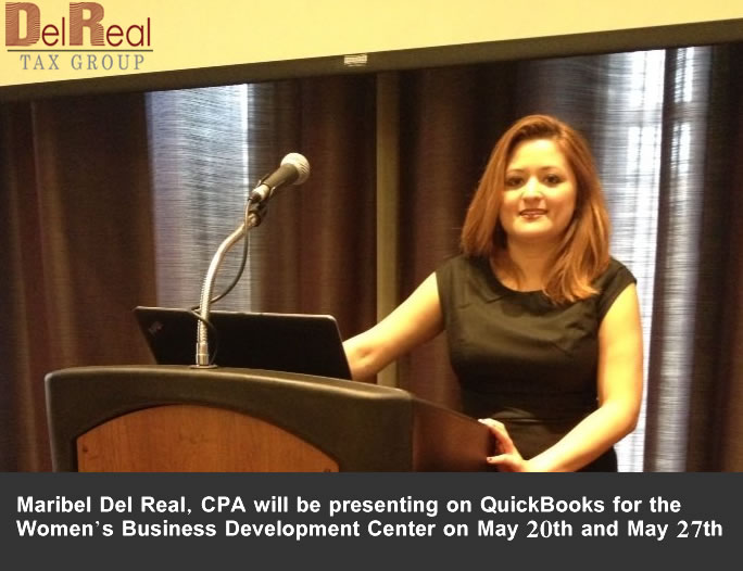 Del Real Tax Group Presenting Quickbooks at Women's Development Center