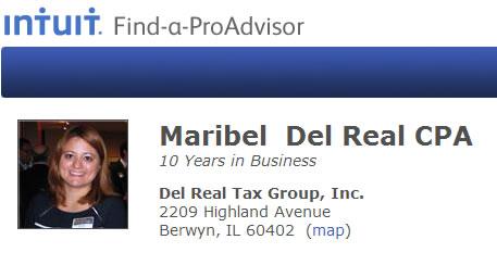 Intuit Pro Advisor Maribel Del Rel