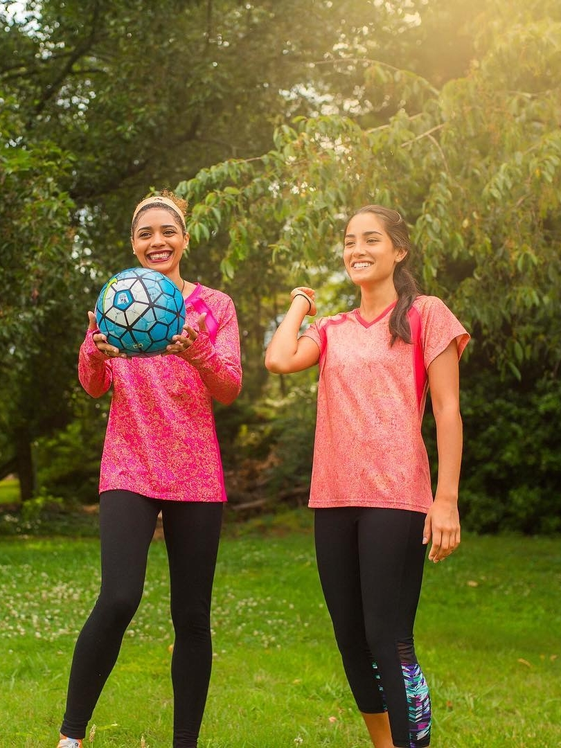 Sparkfire Image Nailed It 2 Young Women playing soccer h Athletic clothes