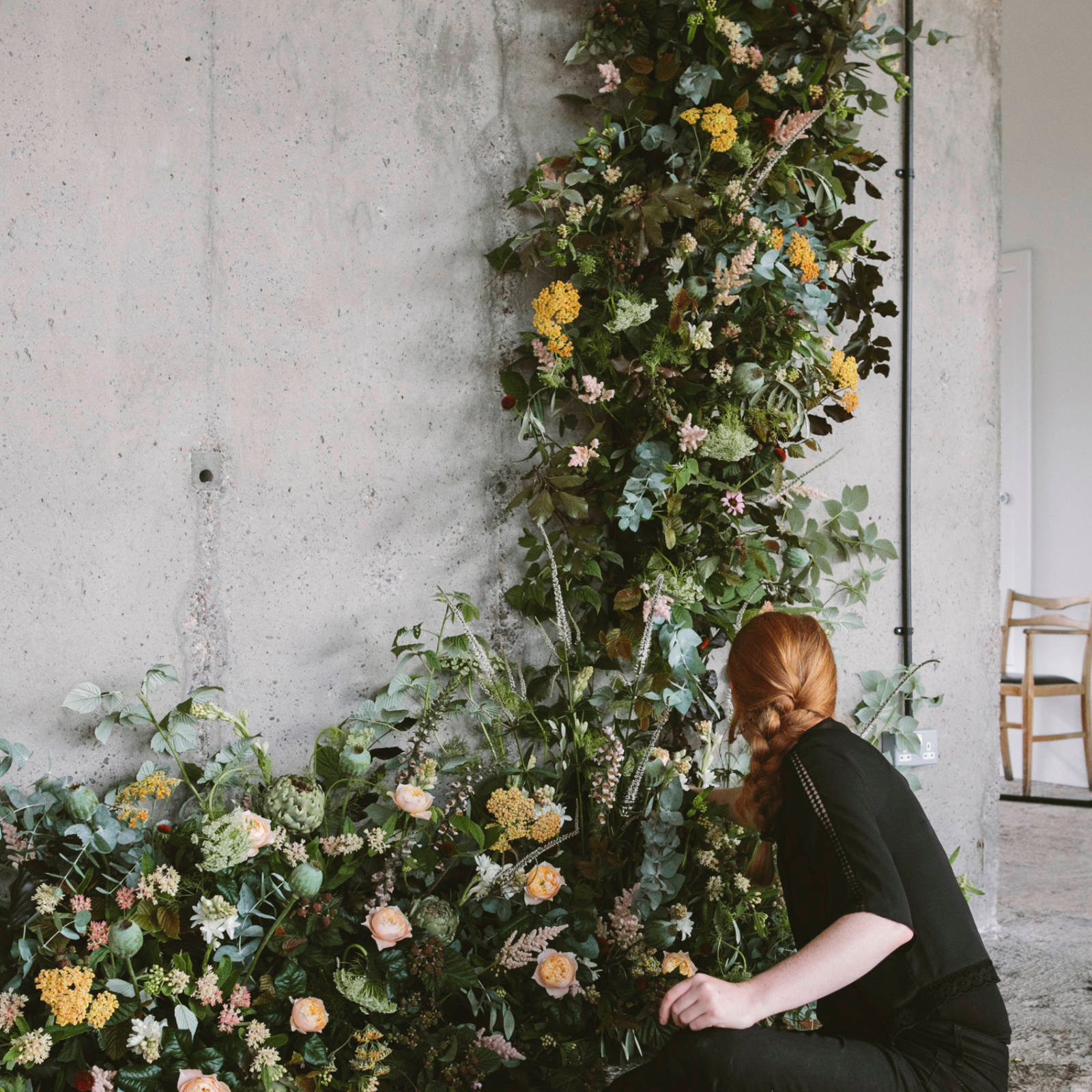 Image Nailed It Flower wall sculpture