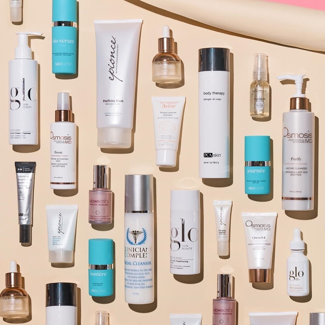 Image Nailed It skincare arranged on cream backdrop
