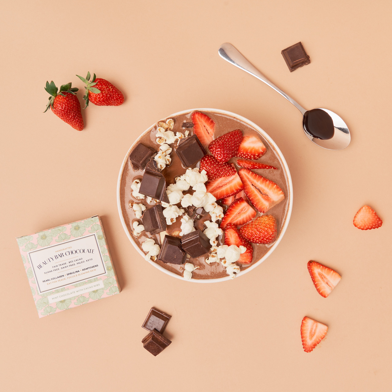 Beauty Bar Chocolate Image Nailed It Chocolate Bowl with Strawberries and Popcorn