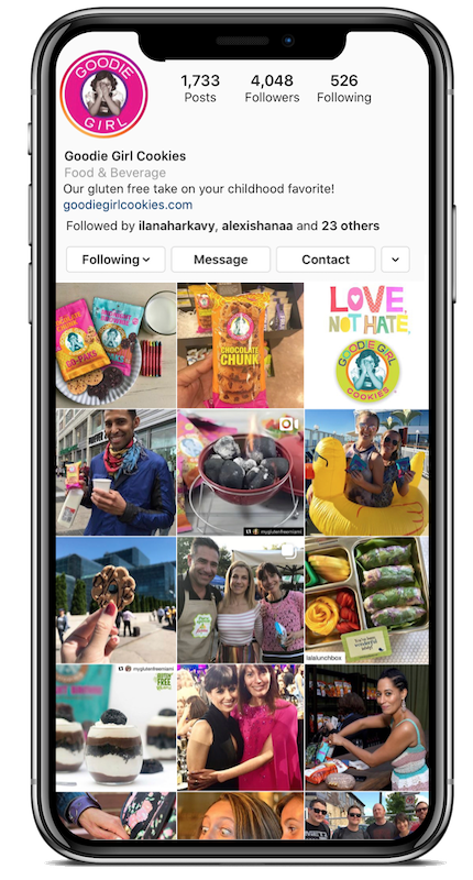 Goodie GIrl Cookies Phone Instagram Before