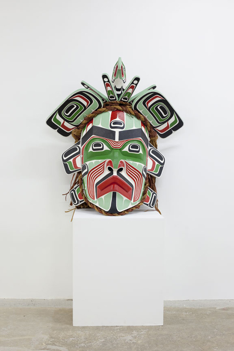 Ceremonial mask by Beau Dick
