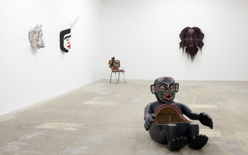 Installation View of Ceremonial/Art exhibition by Beau Dick
