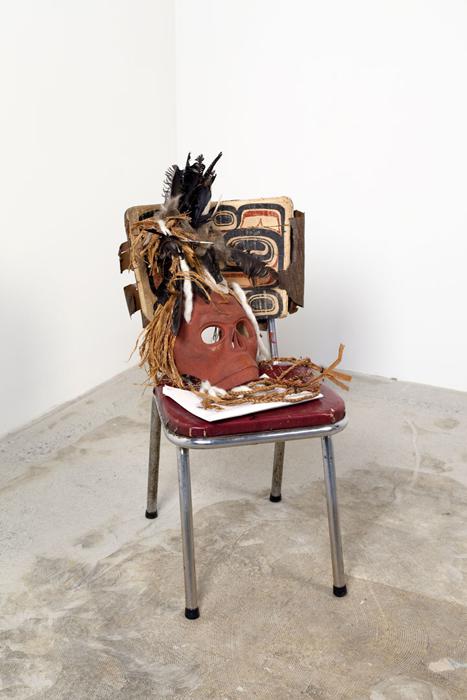 Ceremonial sculpture by Beau Dick
