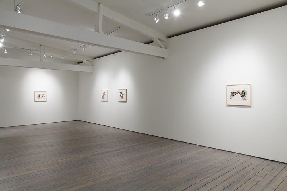 Installation view of Chief Henry Speck at Macaulay & Co Fine Art