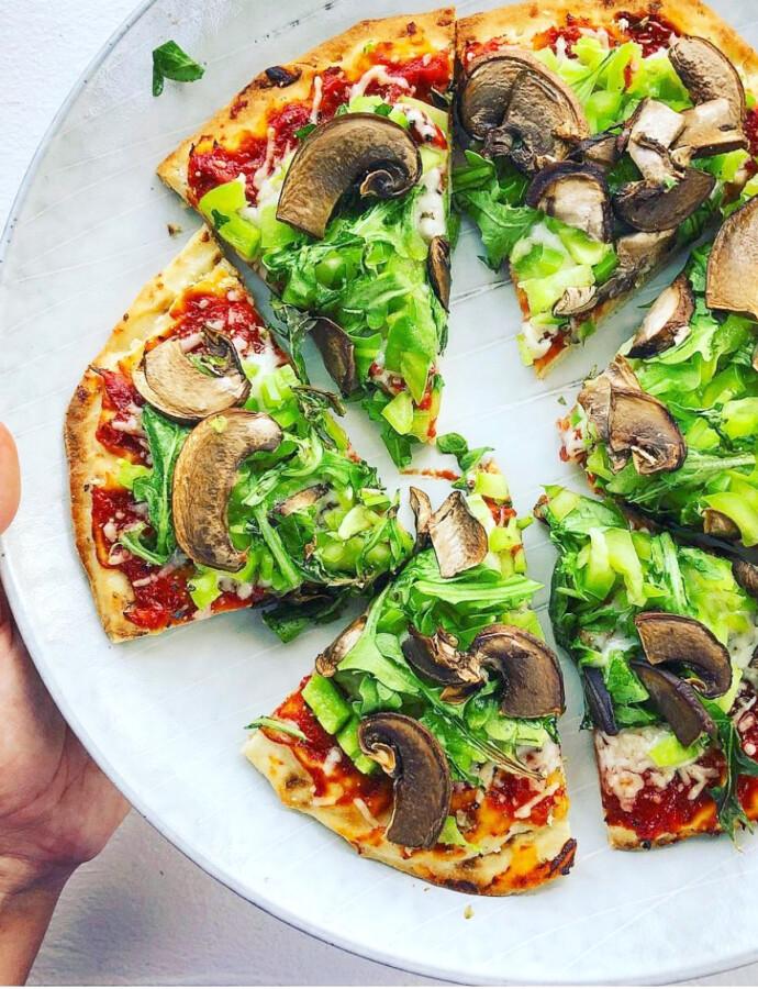 Vegetarian Naan Pizza