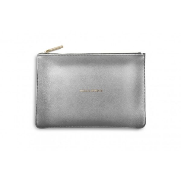 Katie Loxton Perfect Pouch Metallic Charcoal Magical Moments