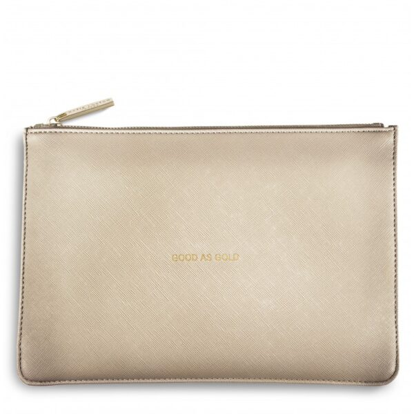 Katie Loxton Perfect Pouch Metallic Gold Good as Gold