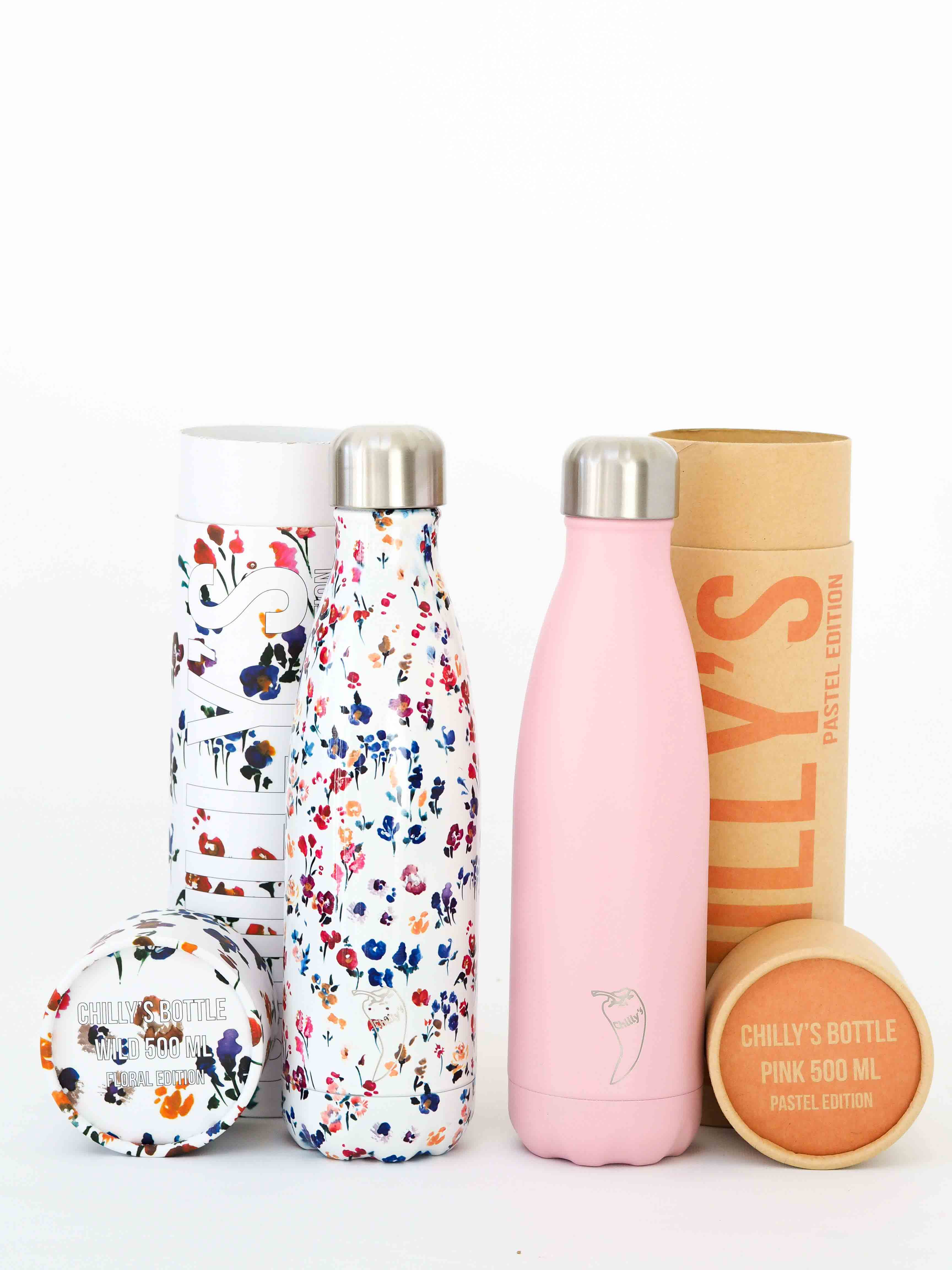 Chillys Bottle Floral Wild Pink