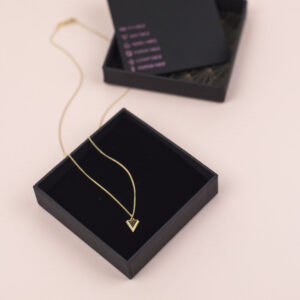 Rachel Jackson London Game Face Collection Zen Face Triangle Gold Necklace Moi Meme