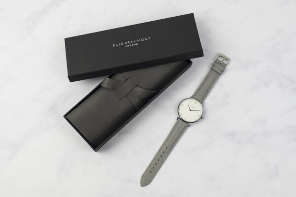 Elie Beaumont Oxford Large Grey and Silver Watch