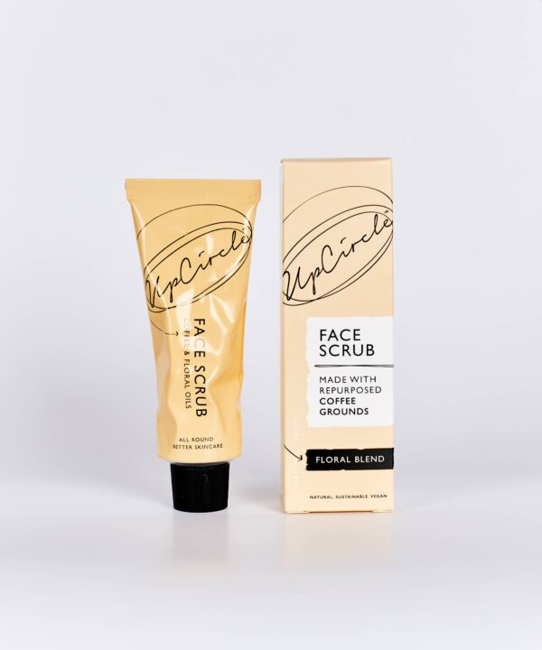 UpCircle Beauty Coffee Face Scrub in Floral Formulation for Sensitive Skin