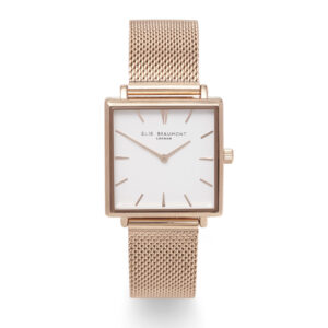 Elie Beaumont Bayswater Watch Rose Gold Mesh