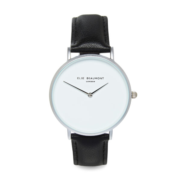 Elie Beaumont Hoxton Watch in Black and Silver
