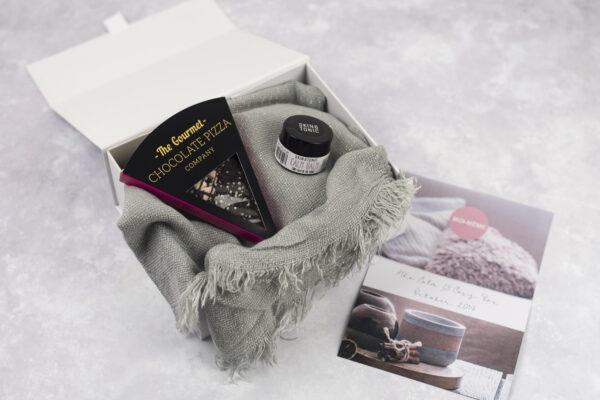 Calm and Cosy October Moi Meme Monthly Chocolate Scarf Calm Balm