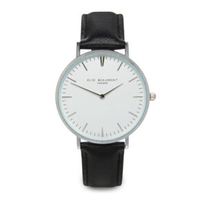 Elie Beaumont Oxford Large Watch in Black and Silver