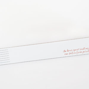 Night Navy Leather Bookmark for Moi Meme White and Rose Gold reading quote