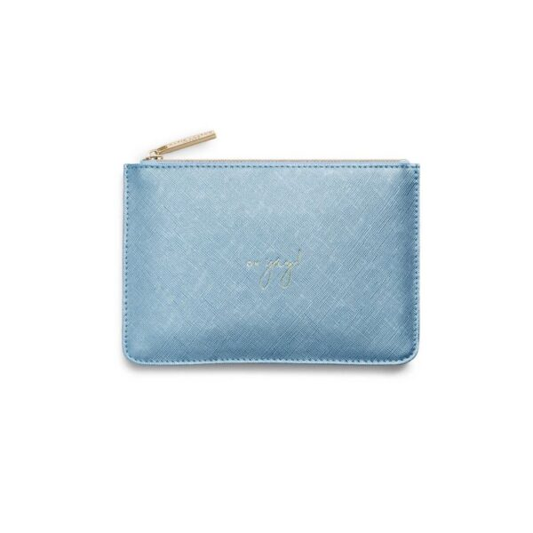 Katie Loxton Perfect Pouch Gift Set Happy Birthday Oh Yay Metallic Blue Mini Pouch