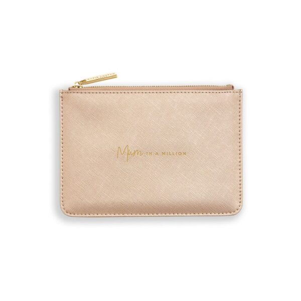 Katie Loxton Perfect Pouch Gift Set Mum in a Million Metallic Pink Mini Pouch