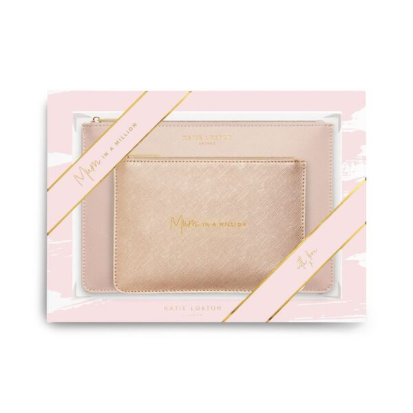 Katie Loxton Perfect Pouch Gift Set Mum in a Million Pink